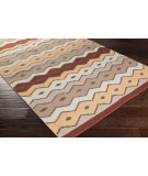 RugStudio presents Surya Native Ntv-7004 Rust Flat-Woven Area Rug