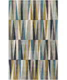 RugStudio presents Surya Oasis OAS-1095 Neutral / Violet (purple) / Yellow / Blue / Green Area Rug