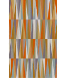 RugStudio presents Surya Oasis OAS-1099 Neutral / Orange / Blue Hand-Tufted, Good Quality Area Rug