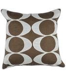 RugStudio presents Surya Pillows P-0180 Chocolate/Light Gray