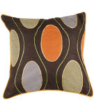 RugStudio presents Surya Pillows P-0188 Chocolate/Multi