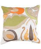 RugStudio presents Surya Pillows P-0197 Gold/Orange