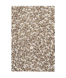 RugStudio presents Surya Pebble Beach PB-1001 Parchment Hand-Tufted, Good Quality Area Rug
