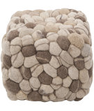 RugStudio presents Surya Poufs Pouf-14 Oyster Gray