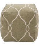 RugStudio presents Surya Poufs Pouf-15 Khaki Green