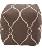 RugStudio presents Surya Poufs Pouf-21 Dark Chocolate