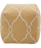 RugStudio presents Surya Poufs Pouf-22 Golden Yellow