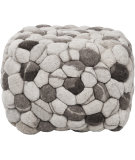RugStudio presents Surya Poufs Pouf-26 Charcoal Gray