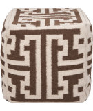 RugStudio presents Surya Poufs Pouf-31 Brown