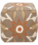 RugStudio presents Surya Poufs Pouf-33 Dusky Green