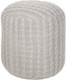 RugStudio presents Surya Poufs Pouf-53 Oyster Gray