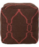 RugStudio presents Surya Poufs Pouf-47 Dark Chocolate