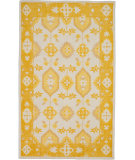 RugStudio presents Surya Pazar Pzr-6007 Burnt Orange/ Sunflower Hand-Knotted, Good Quality Area Rug