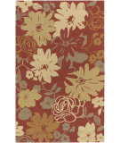 RugStudio presents Surya Rain RAI-1031 Burnt Sienna Hand-Hooked Area Rug