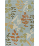 RugStudio presents Surya Rain RAI-1037 Foggy Blue Hand-Hooked Area Rug