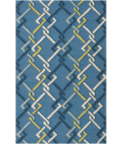 RugStudio presents Surya Rain Rai-1123 Peacock Blue Hand-Hooked Area Rug