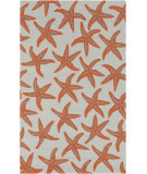 RugStudio presents Surya Rain RAI-1136 Burnt Orange Hand-Hooked Area Rug
