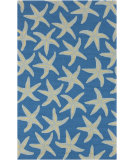 RugStudio presents Surya Rain RAI-1137 Peacock Blue Hand-Hooked Area Rug