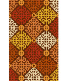 RugStudio presents Surya Rain RAI-1149 Neutral / Yellow / Orange / Red Hand-Hooked Area Rug