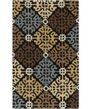 RugStudio presents Surya Rain RAI-1150 Neutral / Green / Blue Hand-Hooked Area Rug