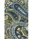 RugStudio presents Surya Rain RAI-1159 Neutral / Green Hand-Hooked Area Rug