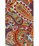 RugStudio presents Surya Rain RAI-1160 Green / Orange / Red / Blue Hand-Hooked Area Rug