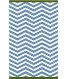 RugStudio presents Surya Rain RAI-1179 Neutral / Blue / Green Hand-Hooked Area Rug