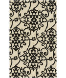 RugStudio presents Surya Rain RAI-1194 Black Hand-Hooked Area Rug