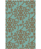 RugStudio presents Surya Rain RAI-1196 Neutral / Green Hand-Hooked Area Rug