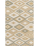 RugStudio presents Surya Rain Rai-1206 Gold Hand-Hooked Area Rug