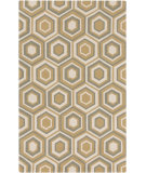 RugStudio presents Surya Rain Rai-1225 Gold Hand-Hooked Area Rug