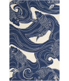 RugStudio presents Surya Rain Rai-1238 Blue Hand-Hooked Area Rug
