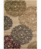 RugStudio presents Surya Riley RLY-5051 Yellow / Green / Neutral / Red Machine Woven, Better Quality Area Rug