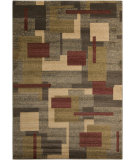 RugStudio presents Surya Riley RLY-5053 Yellow / Green / Neutral / Red Machine Woven, Better Quality Area Rug