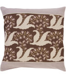 RugStudio presents Surya Pillows SI-2003 Chocolate/Taupe