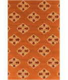 RugStudio presents Rugstudio Sample Sale 74292R Rust Red Hand-Hooked Area Rug