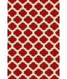 RugStudio presents Surya Storm SOM-7751 Neutral / Red Hand-Hooked Area Rug