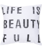 RugStudio presents Surya Pillows ST-081 Ivory/Black