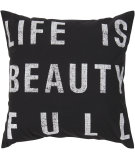 RugStudio presents Surya Pillows ST-082 Black/Ivory