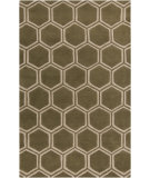 RugStudio presents Surya Stamped STM-801 Neutral / Green Hand-Tufted, Good Quality Area Rug
