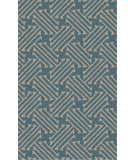 RugStudio presents Surya Stamped STM-816 Neutral / Blue Hand-Tufted, Good Quality Area Rug