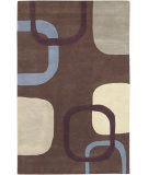 RugStudio presents Surya Stella Smith STS-9008 Chocolate Plum Hand-Tufted, Good Quality Area Rug