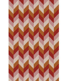 RugStudio presents Surya Talitha TAL-1001 Beige / Orange Flat-Woven Area Rug