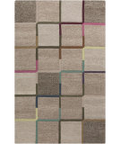 RugStudio presents Surya Theory THY-5003 Neutral / Green / Violet (purple) / Blue Hand-Tufted, Good Quality Area Rug