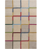 RugStudio presents Surya Theory THY-5004 Neutral / Pink / Red / Violet (purple) / Blue / Green Hand-Tufted, Good Quality Area Rug
