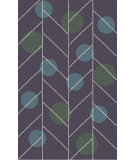 RugStudio presents Surya Theory THY-5009 Neutral / Green / Violet (purple) / Blue Hand-Tufted, Good Quality Area Rug