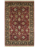 RugStudio presents Surya Taj Mahal Tj-6575 Red / Black Hand-Knotted, Best Quality Area Rug