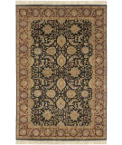 RugStudio presents Surya Taj Mahal Tj-6576 Black / Red Hand-Knotted, Best Quality Area Rug