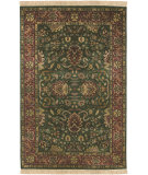 RugStudio presents Surya Taj Mahal Tj-837 Green / Red Hand-Knotted, Best Quality Area Rug