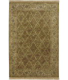 RugStudio presents Surya Taj Mahal Tj-909 Brown / Green Hand-Knotted, Good Quality Area Rug